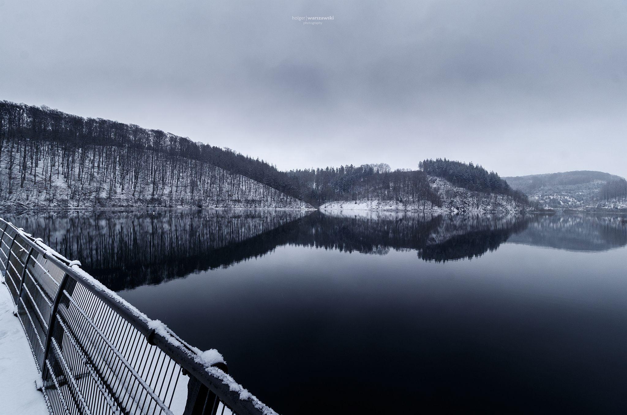 (Fast) monochrome Winterlandschaft